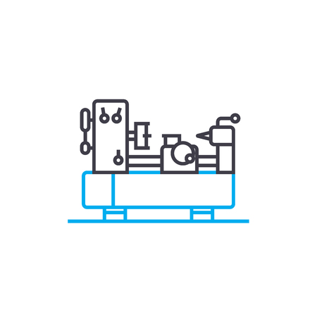 Turning work line icon, vector illustration. Turning work linear concept sign.