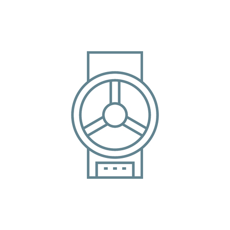 Valve line icon, vector illustration. Valve linear concept sign.