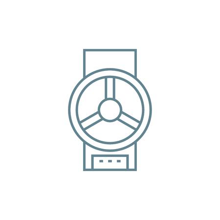 Icono de línea de válvula, ilustración vectorial. Signo de concepto lineal de válvula.