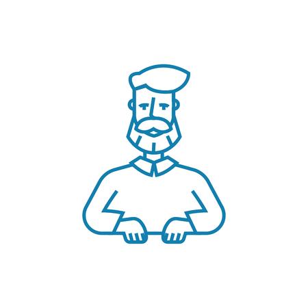 Venerable age line icon, vector illustration. Venerable age linear concept sign.