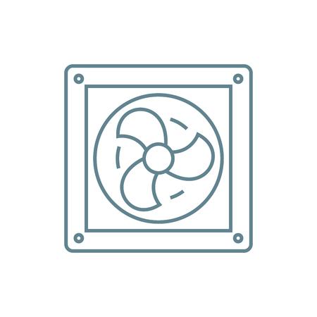 Vent line icon, vector illustration. Vent linear concept sign. Vectores
