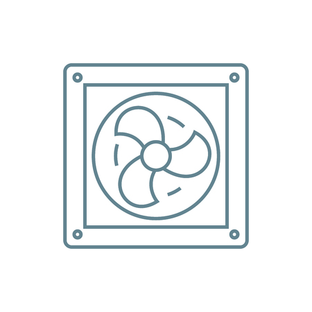 Vent line icon, vector illustration. Vent linear concept sign.  イラスト・ベクター素材