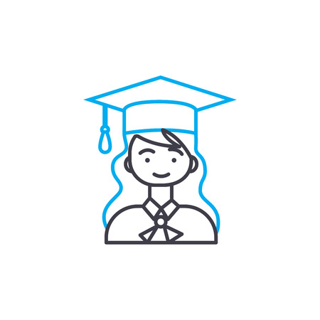 University classes  line icon, vector illustration. University classes  linear concept sign. 일러스트