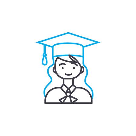 University classes  line icon, vector illustration. University classes  linear concept sign. Illusztráció