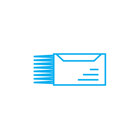 Urgent letter line icon, vector illustration. Urgent letter linear concept sign. Illustration