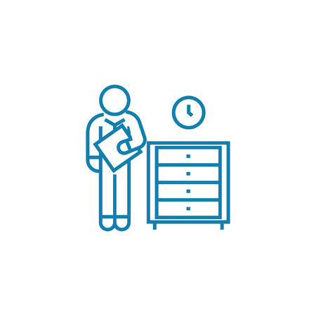 Urgent paperwork line icon, vector illustration. Urgent paperwork linear concept sign.