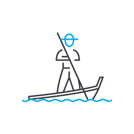 Vietnamese line icon, vector illustration. Vietnamese linear concept sign. Banque d'images - 101996317