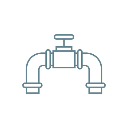 Water flow control line icon, vector illustration. Water flow control linear concept sign.