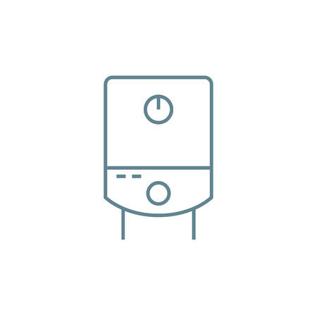 Water heater line icon, vector illustration. Water heater linear concept sign.