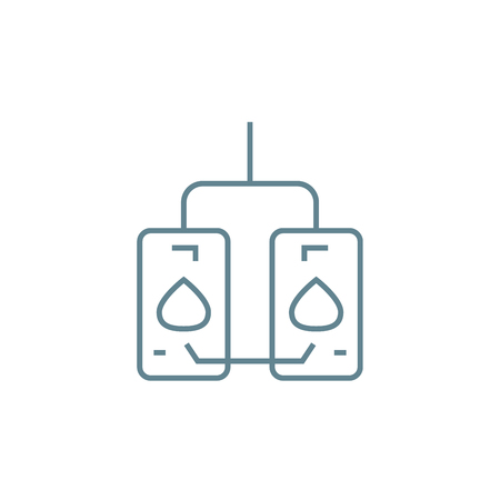 Water heaters line icon, vector illustration. Water heaters linear concept sign. Illustration