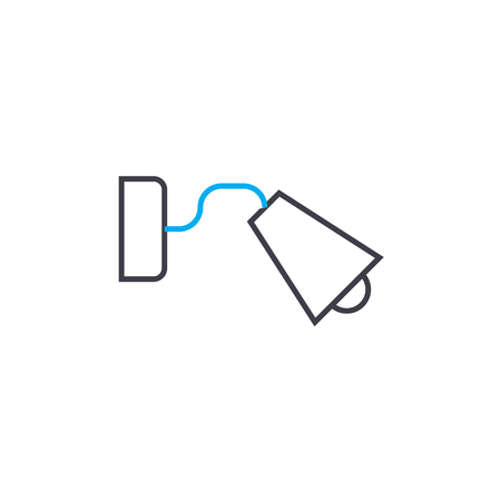 Wall light line icon, vector illustration. Wall light linear concept sign.