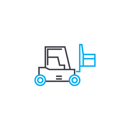 Warehousing line icon, vector illustration. Warehousing linear concept sign.