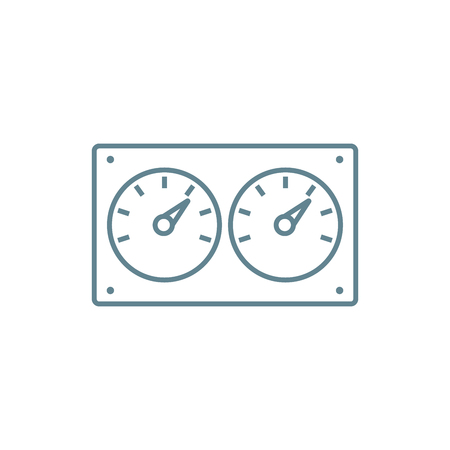 Water meters line icon, vector illustration. Water meters linear concept sign. Illustration