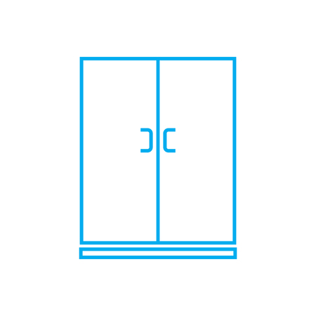 Wardrobe line icon, vector illustration. Wardrobe linear concept sign. Illustration