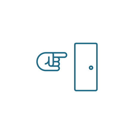 Way out line icon, vector illustration. Way out linear concept sign.