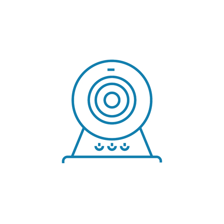 Webcam line icon, vector illustration. Webcam linear concept sign.