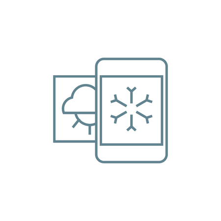 Weather forecast line icon, vector illustration. Weather forecast linear concept sign. Illustration