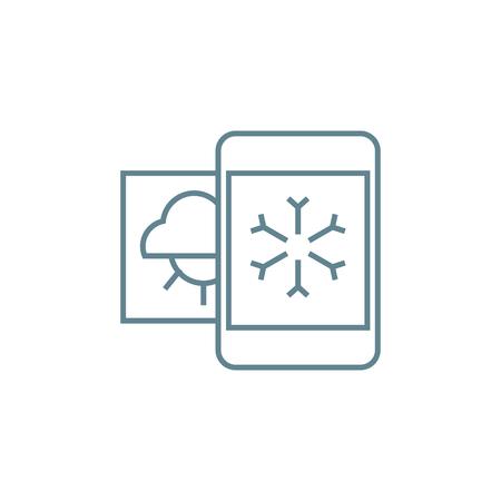 Weather forecast line icon, vector illustration. Weather forecast linear concept sign. Illustration