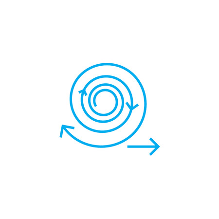 Work cycles line icon, vector illustration. Work cycles linear concept sign.