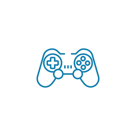 Wireless gamepad line icon, vector illustration. Wireless gamepad linear concept sign.