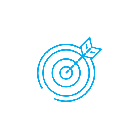 Working objectives line icon, vector illustration. Working objectives linear concept sign.