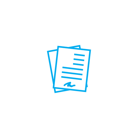 Working documentation line icon, vector illustration. Working documentation linear concept sign. Stockfoto - 101996288