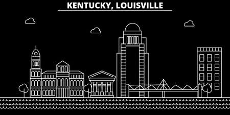 Louisville silhouette skyline. USA - Louisville vector city, american linear architecture, buildings. Louisville line travel illustration, landmarks. USA flat icon, american outline design banner