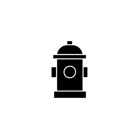 Hydrant black icon, vector illustration. Hydrant  concept sign