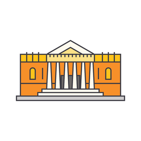 Bank line icon, vector illustration. Bank flat concept sign. Foto de archivo - 103364262