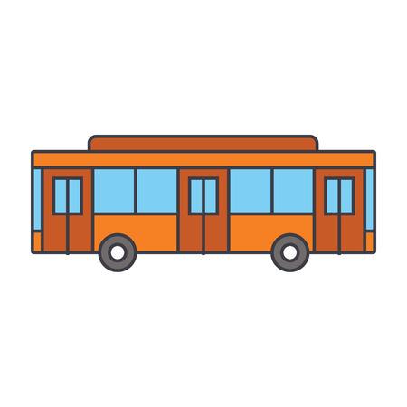 Bus line icon, vector illustration. Bus flat concept sign. Ilustrace