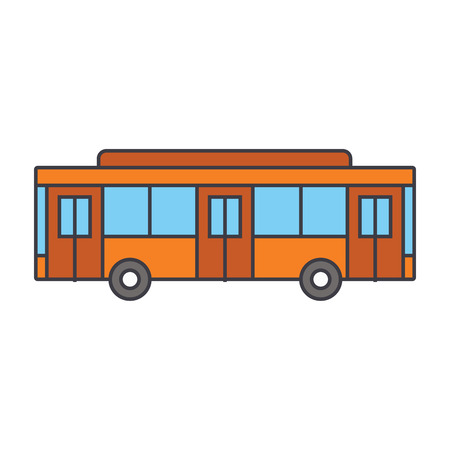 Bus line icon, vector illustration. Bus flat concept sign. Illustration