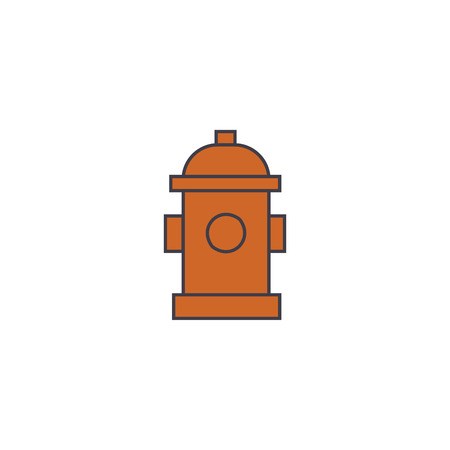 Hydrant line icon, vector illustration. Hydrant flat concept sign.