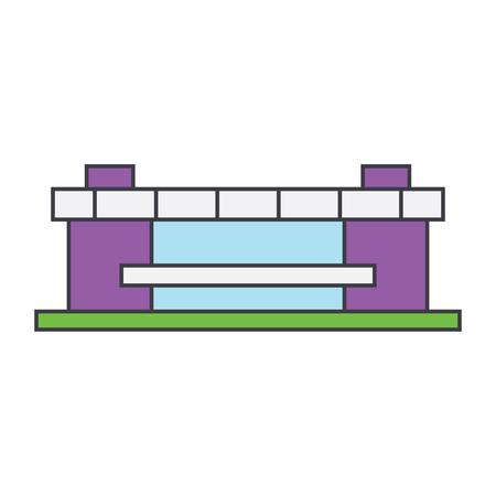 Stadium line icon, vector illustration. Stadium flat concept sign.