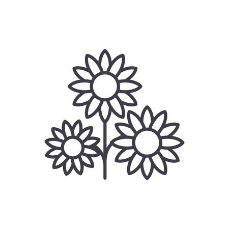 Buttercup line icon, vector illustration. Buttercup flat concept sign. Standard-Bild - 102209619