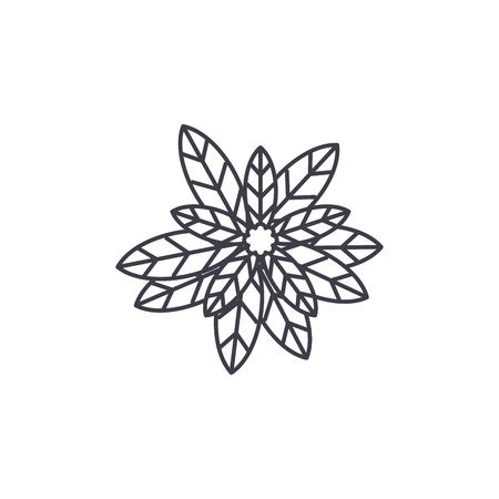 Eucalyptus line icon, vector illustration. Eucalyptus flat concept sign.