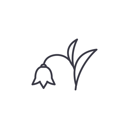 Harebell line icon, vector illustration. Harebell flat concept sign.