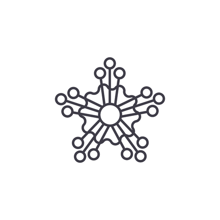 Mimosa line icon, vector illustration. Mimosa flat concept sign. Illustration