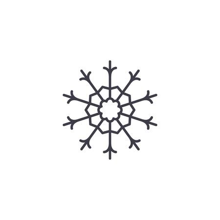 Knapweed line icon, vector illustration. Knapweed flat concept sign.