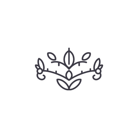 Soapwort line icon, vector illustration. Soapwort flat concept sign.