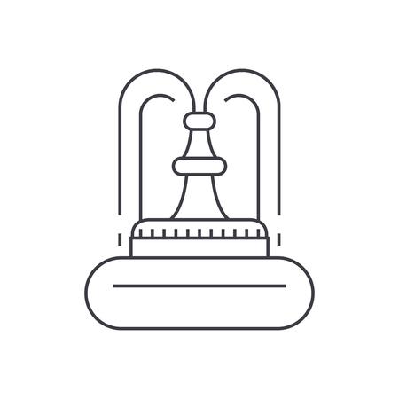 Fountain thin line icon, vector illustration. Fountain linear concept sign. 向量圖像