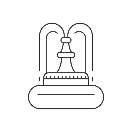 Fountain thin line icon, vector illustration. Fountain linear concept sign. Illustration