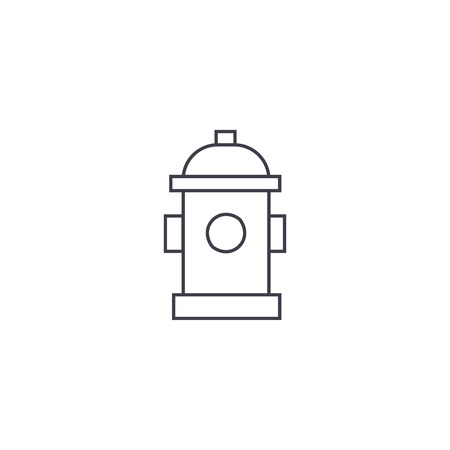 Hydrant thin line icon, vector illustration. Hydrant linear concept sign.