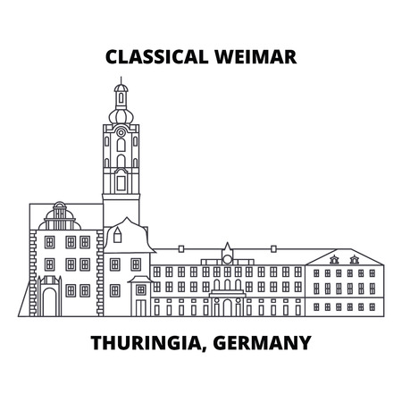 Classical Weimar, Thuringia, Germany line icon, vector illustration. Classical Weimar, Thuringia, Germany linear concept sign