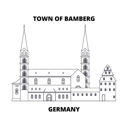Germany, Town Of Bamberg line icon, vector illustration. Germany, Town Of Bamberg linear concept sign.  イラスト・ベクター素材