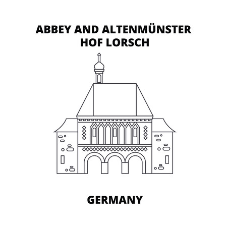 Abbey, Lorsch, Germany line icon, vector illustration. Abbey, Lorsch Germany linear concept sign