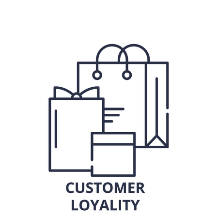 Customer loyality line icon concept. Customer loyality vector linear illustration, sign, symbol