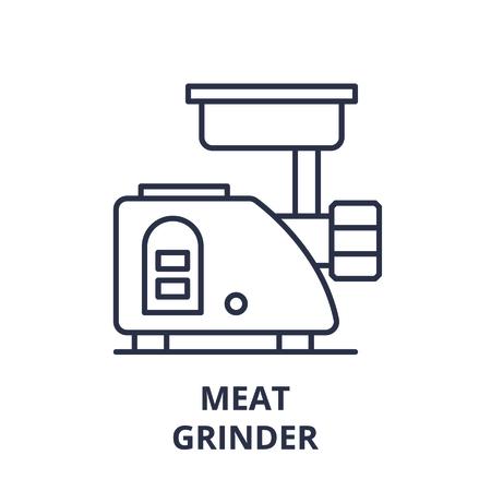 Meat grinder line icon concept. Meat grinder vector linear illustration, sign, symbol