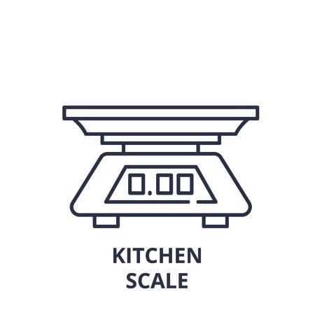 Kitchen scale line icon concept. Kitchen scale vector linear illustration, sign, symbol