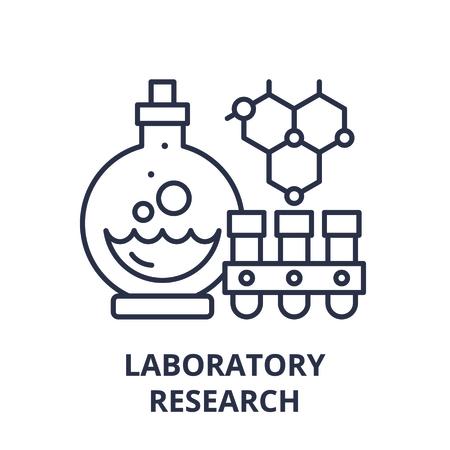 Laboratory research line icon concept. Laboratory research vector linear illustration, sign, symbol Ilustração