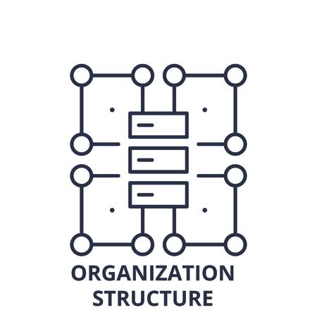 Organization structure line icon concept. Organization structure vector linear illustration, sign, symbol
